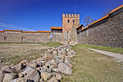 Средневековый замок, Medininkai, Литва Стоковые Изображения RF