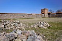 Средневековый замок, Medininkai, Литва Стоковая Фотография
