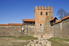 Средневековый замок, Medininkai, Литва Стоковая Фотография RF