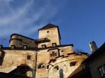 Средневековый замок Orava - Словакия стоковое фото