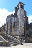Средневековый замок Templar в Tomar, Португалии Стоковые Фото