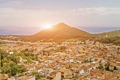 Средневековый испанский городок для печати стоковое фото rf