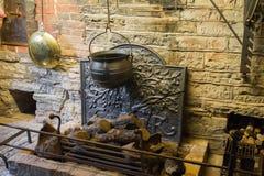 Средневековый камин стоковые фотографии rf