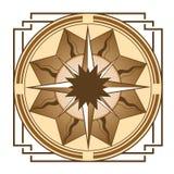Средневековый компас Стоковые Фотографии RF