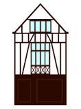 Средневековый дом (полу-timbered) fachwerk Стоковая Фотография RF