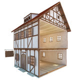 Средневековый дом Стоковые Фотографии RF