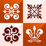 Средневековый орнамент эмблемы Стоковая Фотография