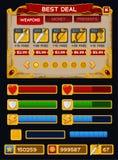 Средневековый пакет GUI игры Стоковые Изображения