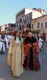 средневековый парад Стоковое Изображение RF