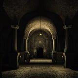 Средневековый погреб Стоковые Фото