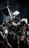 средневековый ратник Средневековое сражение & x28; reconstruction& x29; Чешский Стоковое фото RF