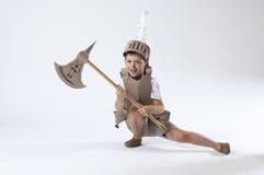 Средневековый ребенок рыцаря Стоковое Фото