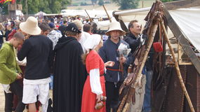 Средневековый рынок в grunwald Стоковые Фото