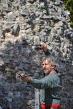 Средневековый рыцарь фестиваля Стоковое Изображение RF