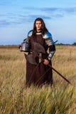 Средневековый рыцарь стоковая фотография
