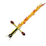 Средневековый серебр шпаги фантазии с славной ручкой и острым лезвием Стоковые Фотографии RF