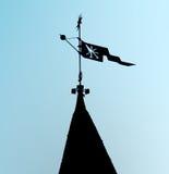 Средневековый силуэт лопасти погоды Стоковая Фотография RF