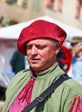 Средневековый совершитель улицы Стоковая Фотография RF