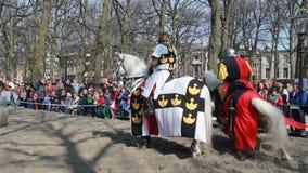 Средневековый турнир рыцарей видеоматериал
