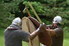 Средневековый фестиваль боев стоковые изображения rf