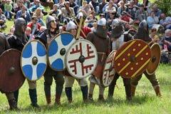 Средневековый фестиваль боев Стоковое фото RF