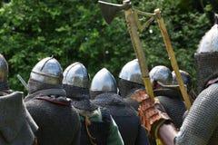 Средневековый фестиваль боев стоковое изображение