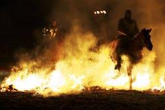 Средневековый фестиваль замка Стоковое Фото