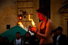 Средневековый фестиваль Mdina Стоковые Изображения