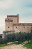Средневековый форт в Assisi (Италия) стоковая фотография