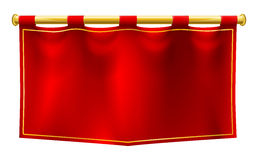 Средневековый флаг знамени Стоковое фото RF