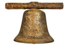Средневековый церковный колокол изолированный на белизне Стоковая Фотография RF