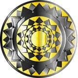 Средневековый экран фантазии с декоративными абстрактными элементами Стоковая Фотография RF