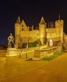 Средневековый Het Steen замка, Антверпен, Бельгия Стоковое Фото