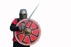 Средневековый swordsman панцыря стоковое фото rf