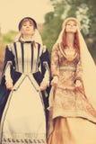 2 средневековых ladys Стоковая Фотография