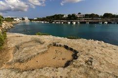 Среднеземноморская береговая линия Стоковые Изображения