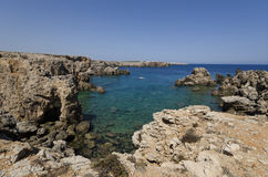 Среднеземноморская береговая линия Стоковые Фотографии RF