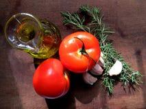 Среднеземноморская еда Стоковые Фотографии RF