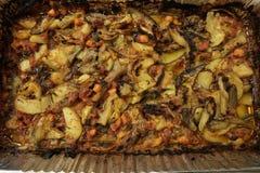 Среднеземноморская и азиатская кухня (ГРЕЦИЯ) Стоковое фото RF