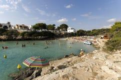 Среднеземноморская сцена пляжа Стоковое Изображение RF