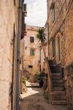 Среднеземноморская улица Стоковая Фотография RF