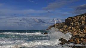 Среднеземноморские волны Стоковые Фото