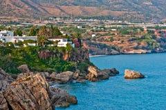 среднеземноморское море nerja Стоковое Изображение