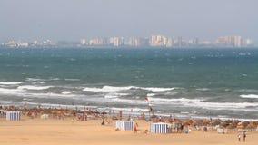 Среднеземноморское побережье Валенсия курорта, Испания сток-видео