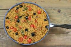 Среднеземноморской вегетарианский обед Стоковое Изображение