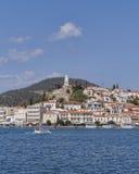 Среднеземноморской взгляд острова, Poros Греция Стоковые Изображения RF