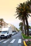 Среднеземноморской взгляд улицы города Стоковое Изображение