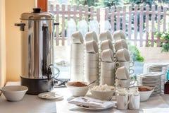 Среднеземноморской интерьер - кофеварка Стоковая Фотография RF