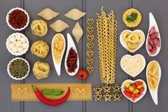 Среднеземноморской коллаж еды Стоковая Фотография