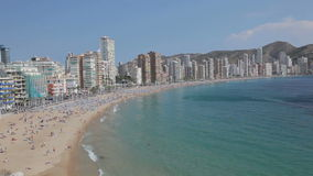 Среднеземноморской курорт Benidorm, Испания Стоковые Изображения